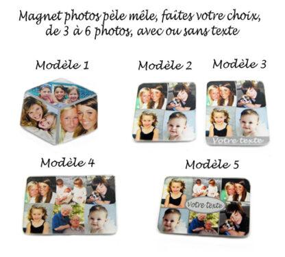 Magnet pèle mèle photos personnalisé avec agda photo