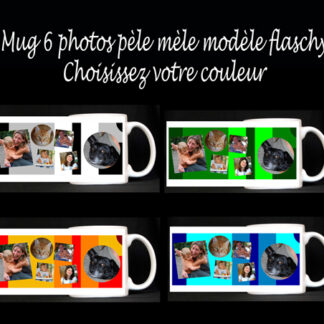 Mug photo pèle mèle personnalisé agda photo