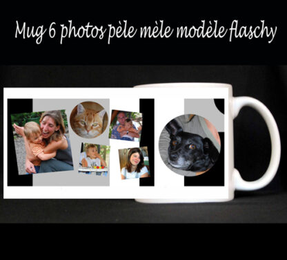 Mug personnalisé pèle mèle photos agda photo