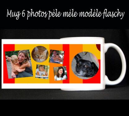 Tasse photos pèle mèle à personnaliser avec 6 photos par agda photo