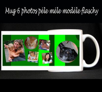Mug photos en pèle mèle à personnaliser avec agda photo
