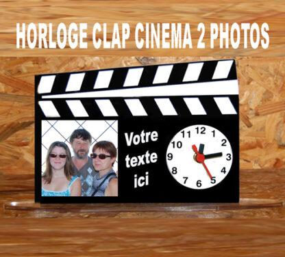 horloge personnalisé 2 photo clap cinéma agda photo
