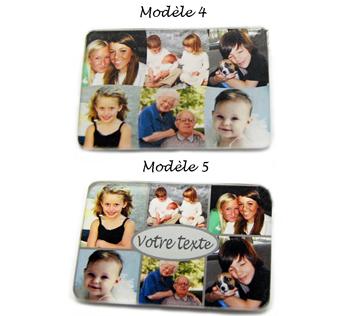 Aimant pour réfrigérateur personnalisé 6 photos pèle mèle avec agda photo