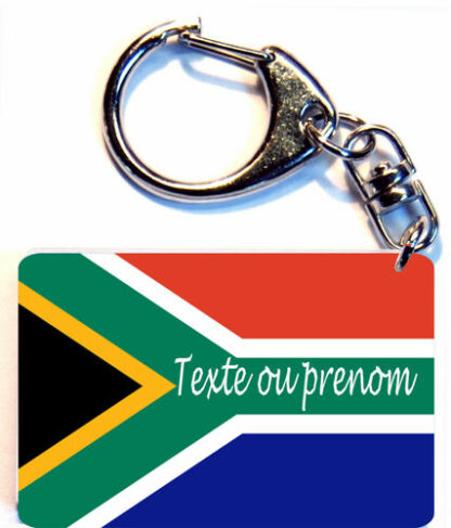 Porte-clés drapeau Afrique du sud prenom personnalisé agda photo