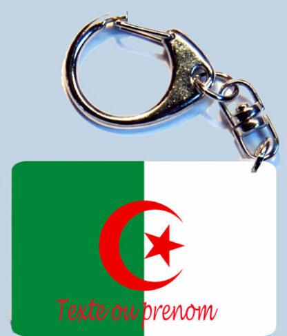 Porte-clés drapeau Algérie prenom personnalisé agda photo