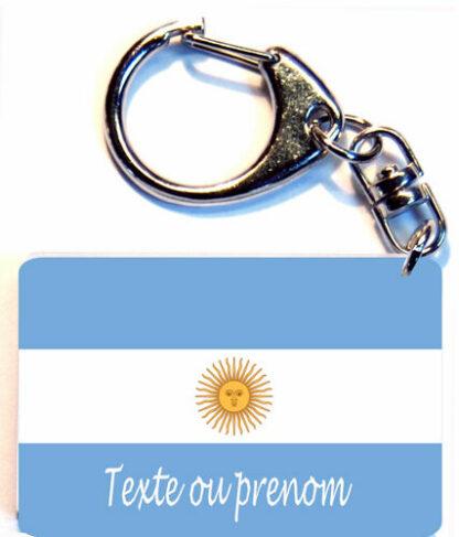 Porte-clés drapeau Argentine prenom personnalisé agda photo