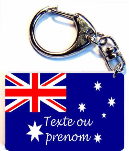 Porte-clés drapeau Australie prenom personnalisé agda photo