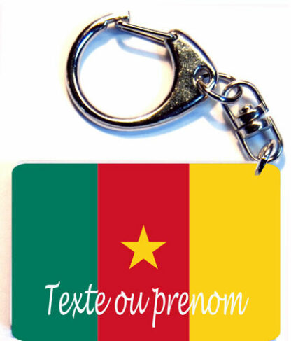 Porte-clés drapeau Cameroun prenom personnalisé agda photo