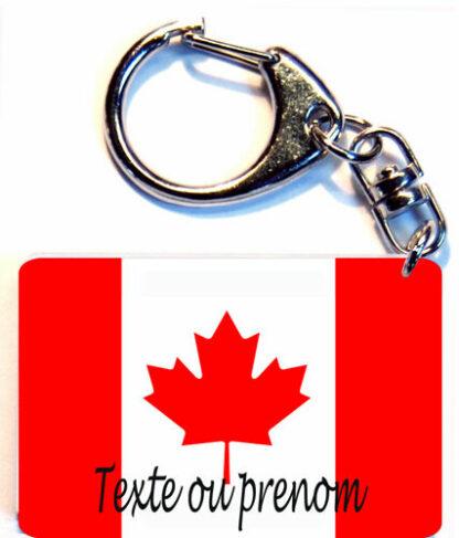 Porte-clés drapeau Canada prenom personnalisé agda photo