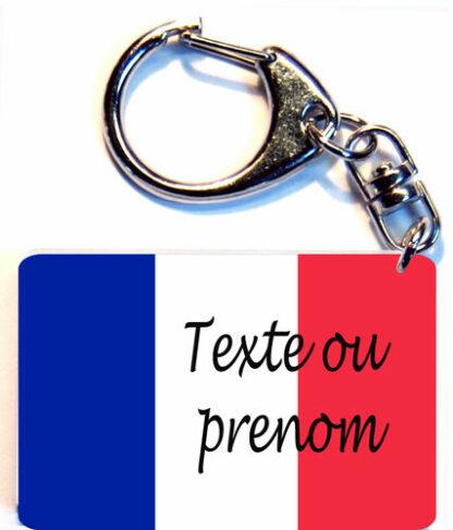 Porte-clés drapeau france prenom personnalisé agda photo