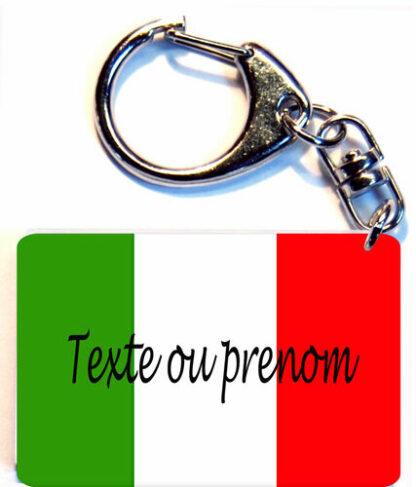 Porte-clés drapeau Italie prenom personnalisé agda photo