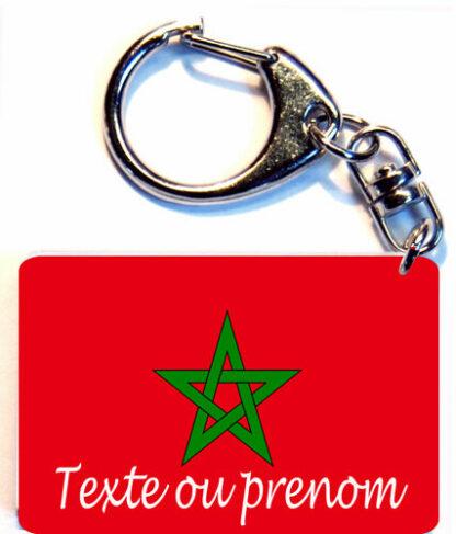 Porte-clés drapeau Maroc prenom personnalisé agda photo