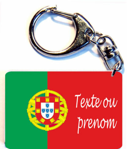 Porte-clés drapeau Portugal prenom personnalisé agda photo