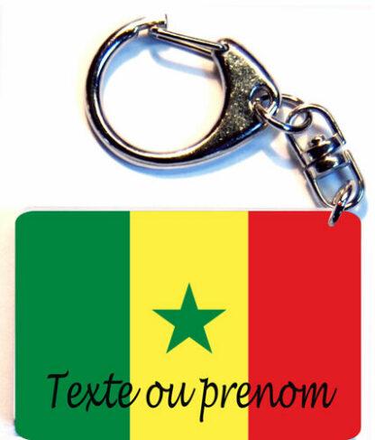 Porte-clés drapeau Sénégal prenom personnalisé agda photo