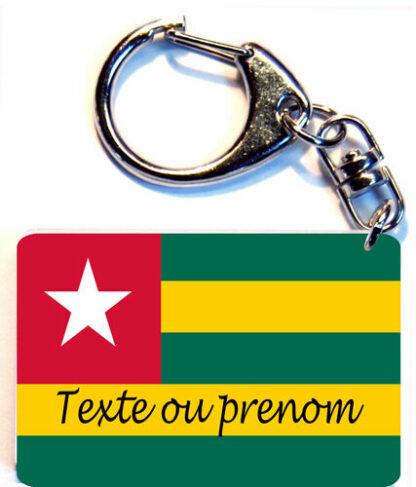 Porte-clés drapeau Togo prenom personnalisé agda photo