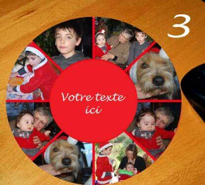 Tapis de souris 8 photos et texte en pele mele personnalisé par agda photo