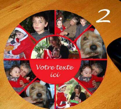 tapis de souris personnalisé 9 photos et texte pele mele par agda photo