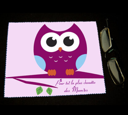 Lingette essuie lunette cadeau pour mamie fête des grands mères personnalisée avec agda photo