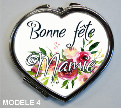 cadeau personnalisé pour mamie avec ce miroir de poche spécial fete des grands-meres de agda photo