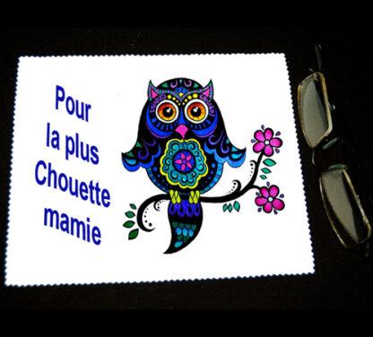 Lingette essuie lunetter cadeau pour fete des grands mère personnalisé par agda photo