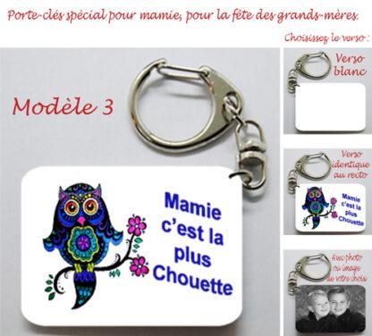 Porte-clés Mamie c'est la plus chouette avec agda photo pour la fête des grands-mères