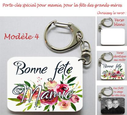 Porte-clés pour mamie avec agda photo pour la fête des grands mères