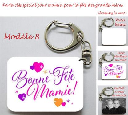 Porte-cles fete des grands mères cadeau personnalisé mamie avec agda photo