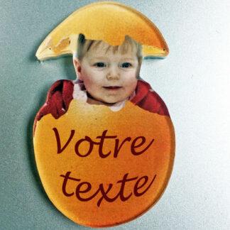 Magnet photo personnalisé forme oeuf de pâques avec agda photo