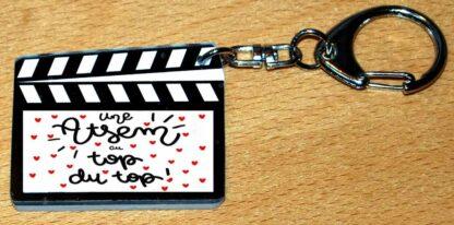 Porte-clés cadeau atsem fin année avec agda photo