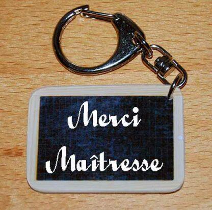 Porte-clés merci maîtresse à offrir fin année scolaire avec agda photo