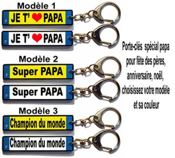 porte-clés fêtes des pères cadeaux pour papa plaque d'immatriculation avec agda photo