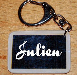 porte-clés prénom style ardoise écolier personnalisé avec agda photo