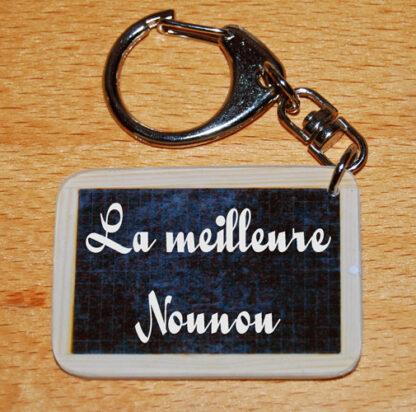 Porte-clés la meilleure Nounou à offrir fin année scolaire avec agda photo