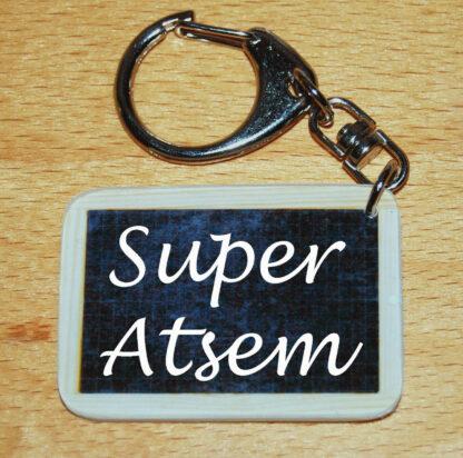 Porte-clés super atsem à offrir fin année scolaire avec agda photo