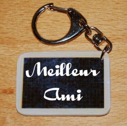 Porte-clés Meilleur Ami avec agda photo