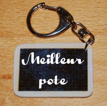 Porte-clés meilleur pote avec agda photo