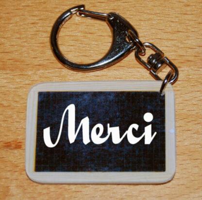 Porte-clés merci avec agda photo