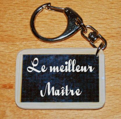 Porte-clés le meilleur maître à offrir fin année scolaire avec agda photo